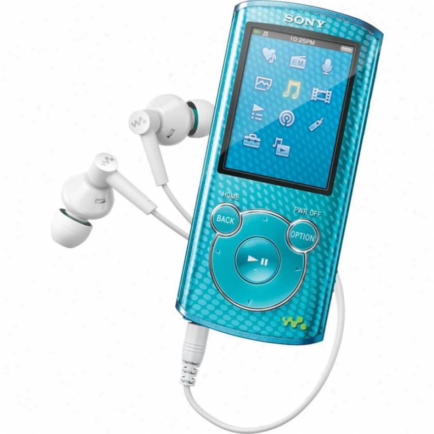 Sony Nwz-e464 8gb E Series Walkman® Video Mp3 Player Blue