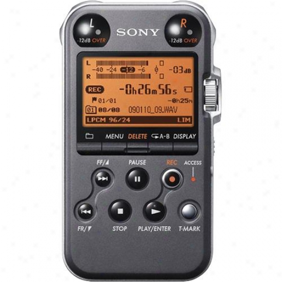 Sony Pcmm10b Portable Audio Recorder - Black