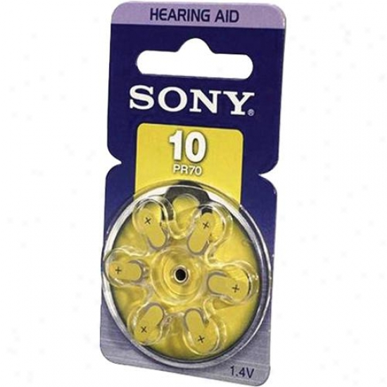 Sony Pr10 Zinc Air Battery Dial Multipack - 6-pack