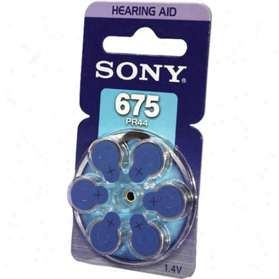 Sonny Pr675 Zinc Air Battery Dial Multipack - 6-pack