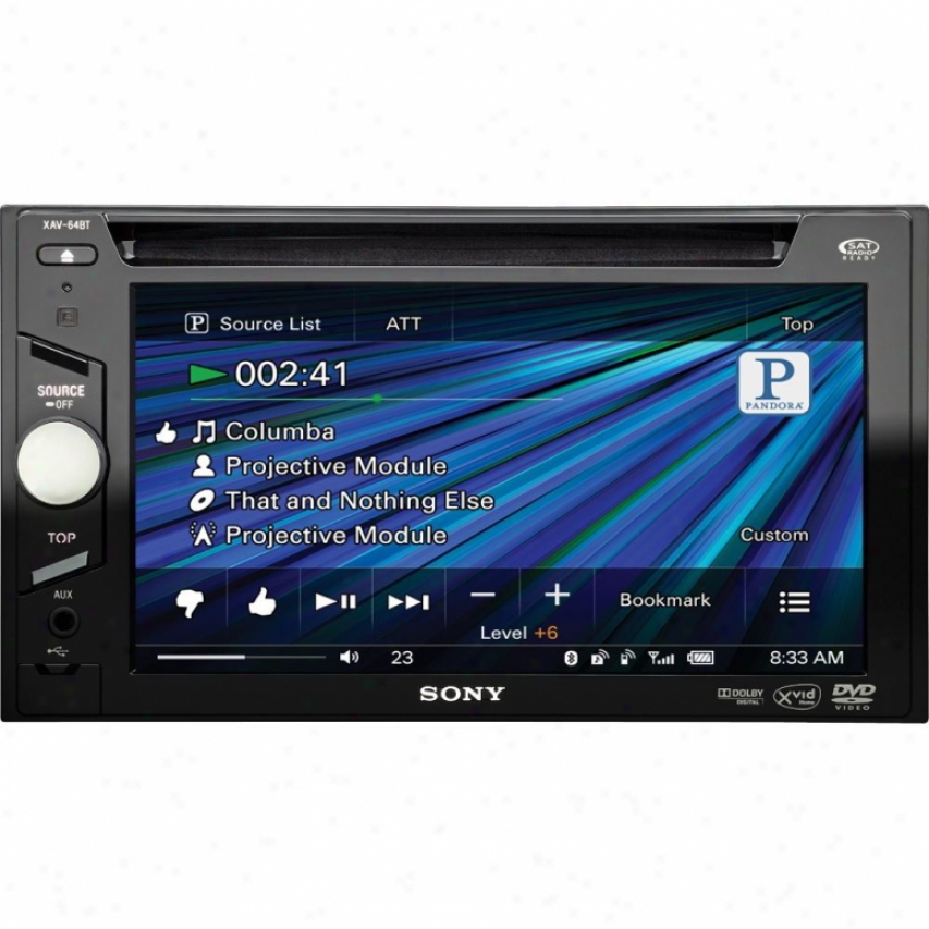 Sony Xav-64bt Vehicle A/v Receiver With Bluetooth