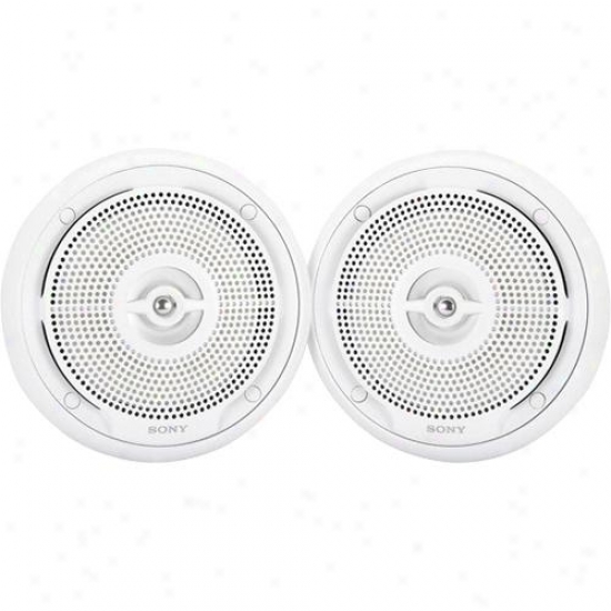 "Sony Xs-mp1620w 6-1/2"" Pair Marine Speakr - White"