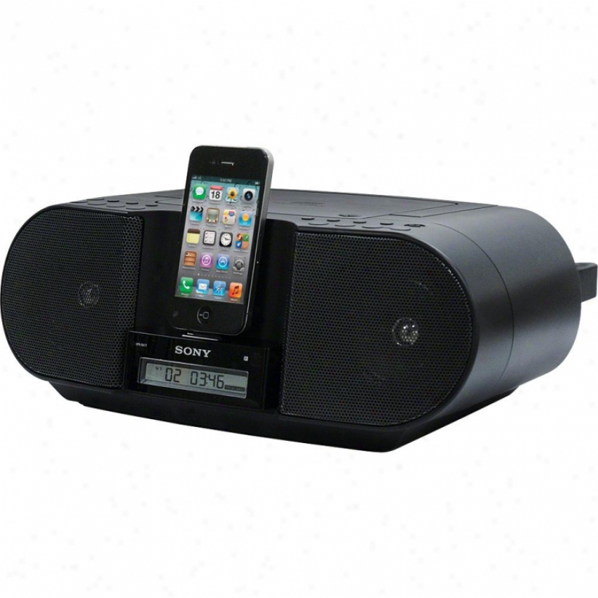 Sony Zs-s3ip Cd Boombox With Dock For Ipod And Iphone