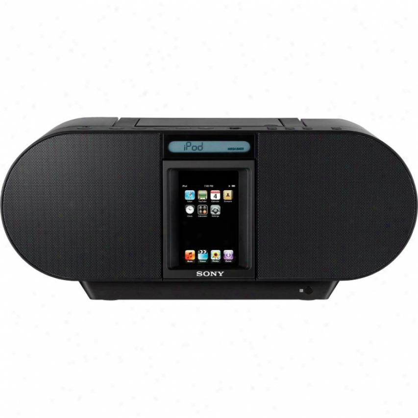 Sony Zs-s4ip Cd Boombox With Dock Because Ipod And Iphone - Black