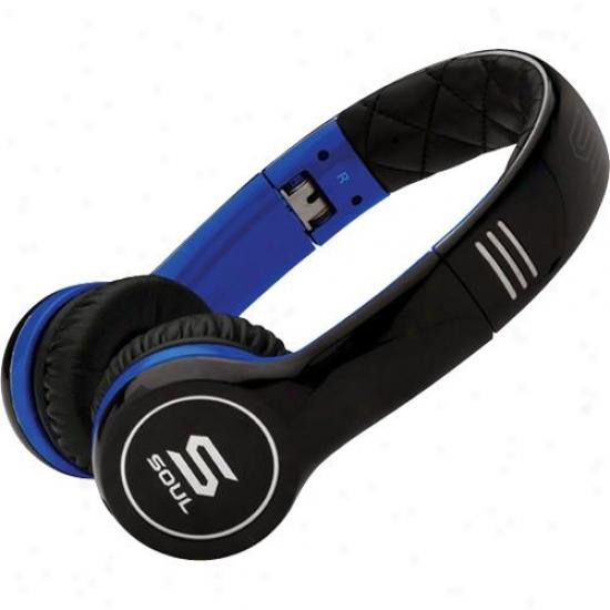 Soul By Ludacris Sl100ub Ultra Dynamic On-ear Folding Headphones - Black/blue