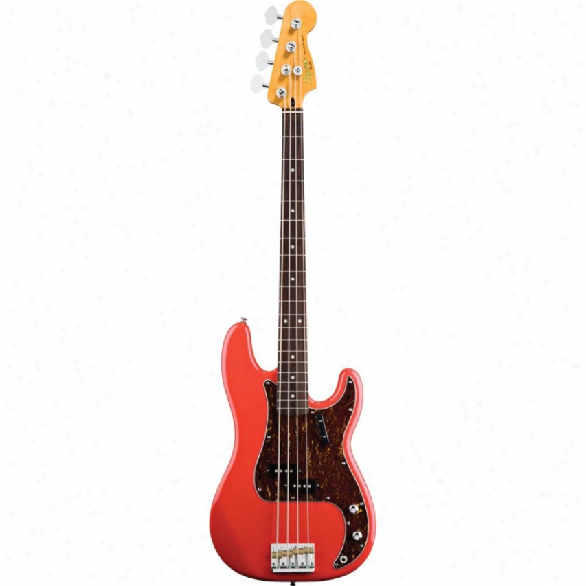 Squier® Calssic Vibe Exactness Bass '60s Guitar - Fiesta Red - 030-3070-540