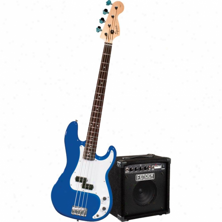 Squier® Point Dreaming, Start Playing Set: Affinity P Bass W/ Rumble 15 Amp