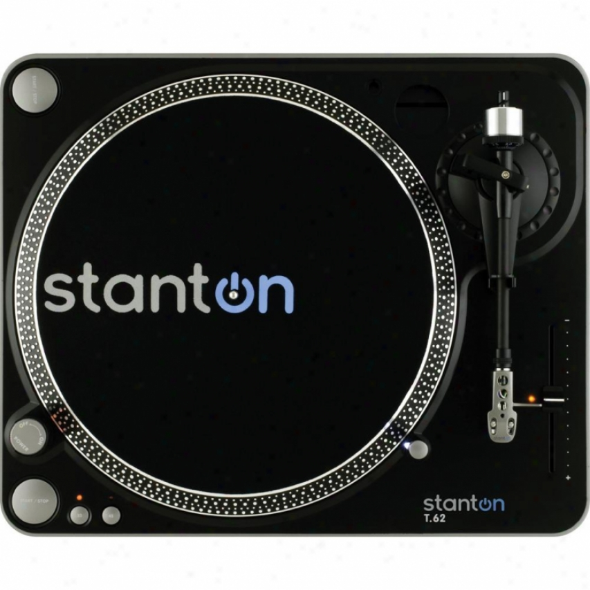 Stanton Magnetics T62b Direct Drive Analog Turntable