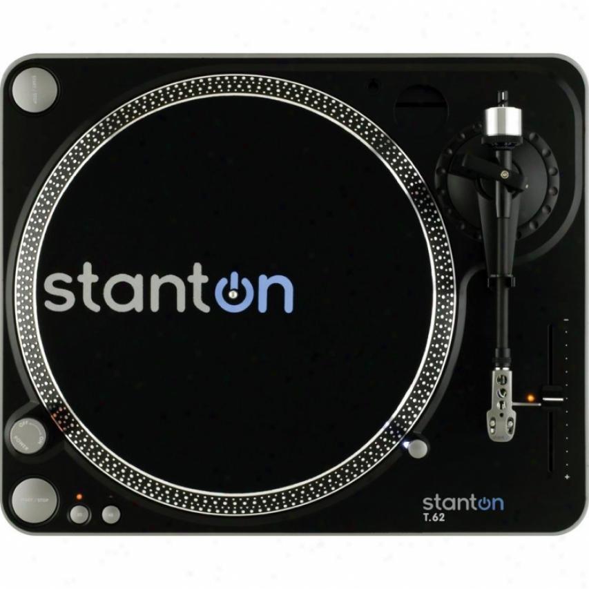 Stanton Magnetics T62b Direct Drive Analog Turntable