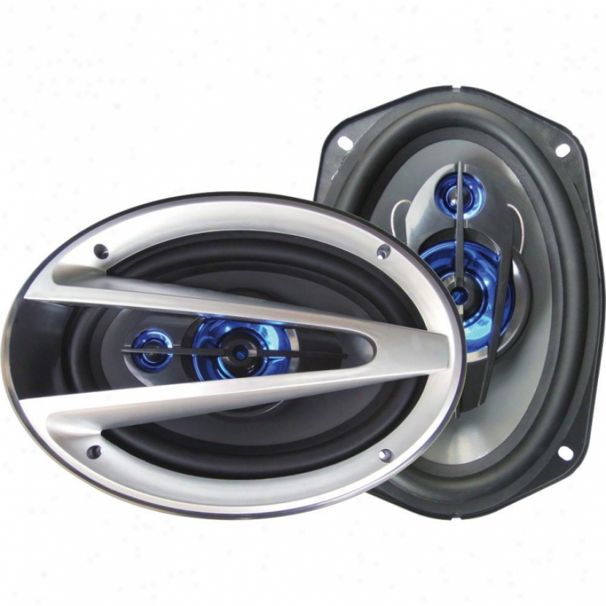 "Supersonic 6""x 9"" 3-way Coaxial Car Speakers Sc6901"