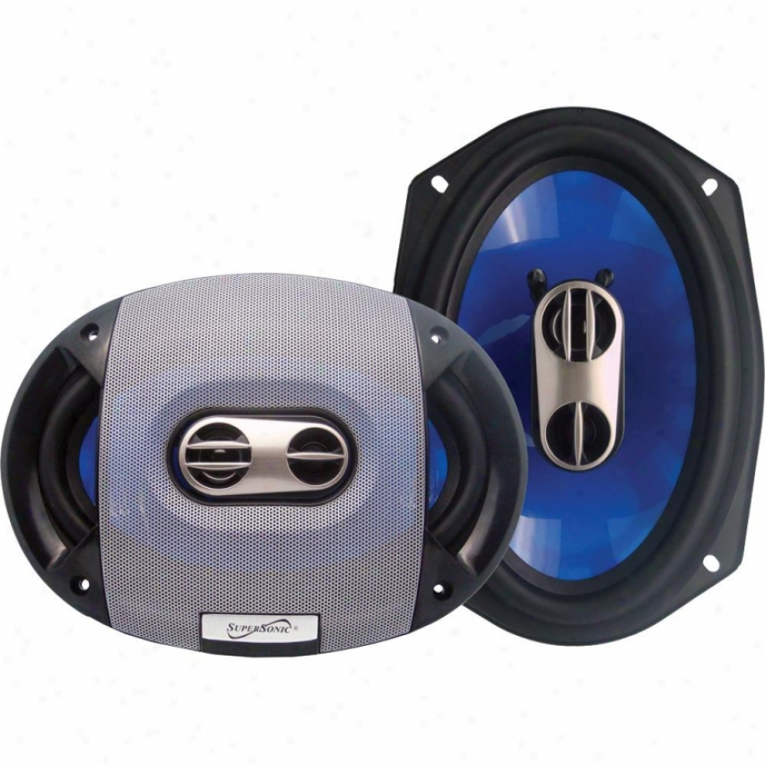 "Supersonic 6""x9"" 3-way Coaxial Car S0eakers Sc6903"
