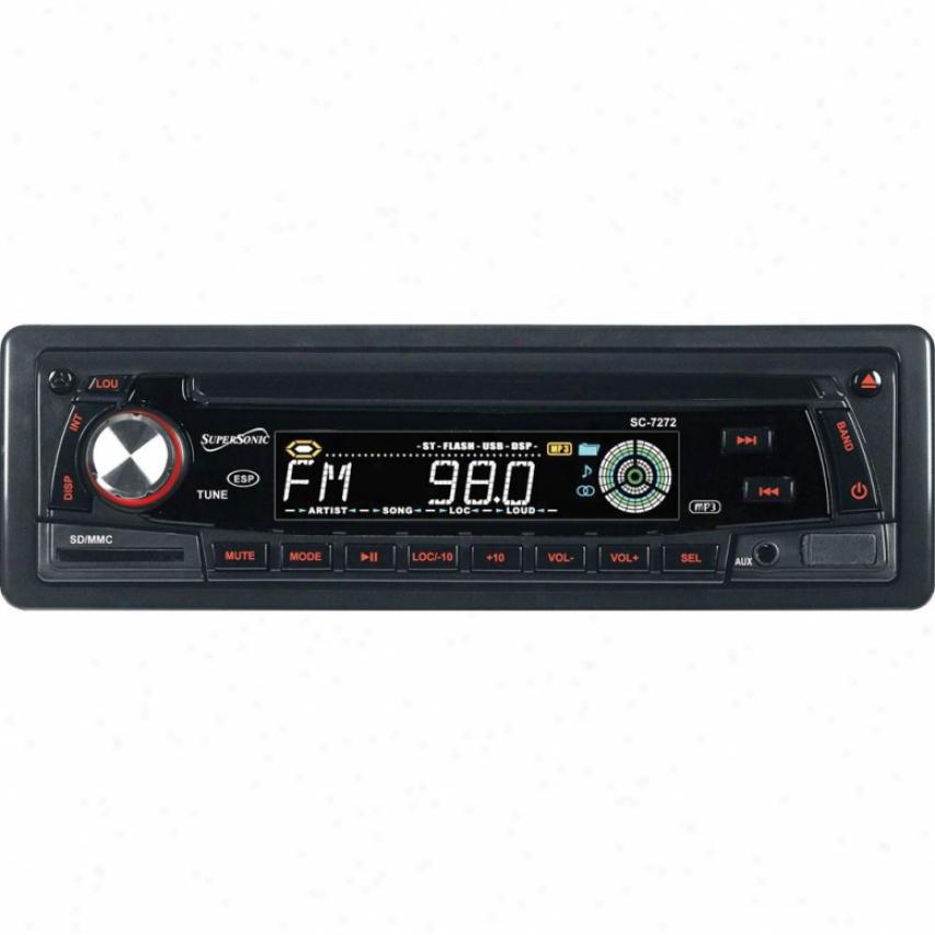 Supersonic Car Audio Am/fm Mp3/cd