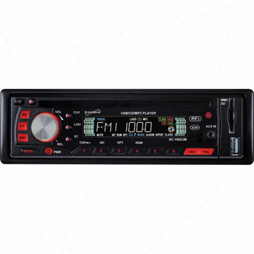 Supersonic Cd-mp3 Car Stereo Receiver Sc-1962um