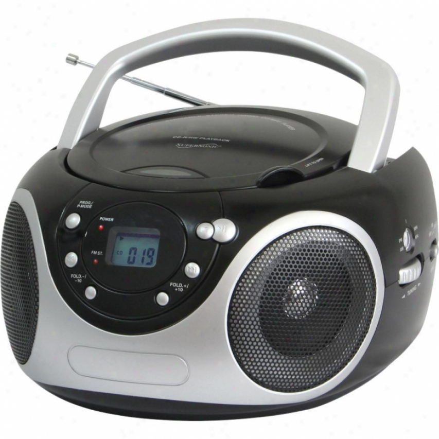 Superrsonic Portable Cd Player With Am/fm Radio - Murky