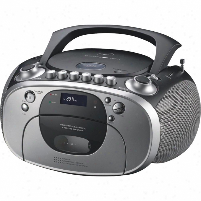 Supersonic Portable Mp3-cd Cassette Player Auxiliary Input Sc715