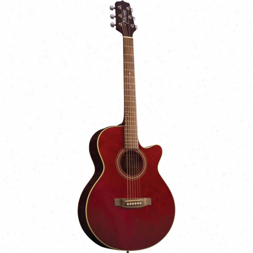 Takamine 6 String Acoustic-electric Guitar - Wine Red - Eg260c