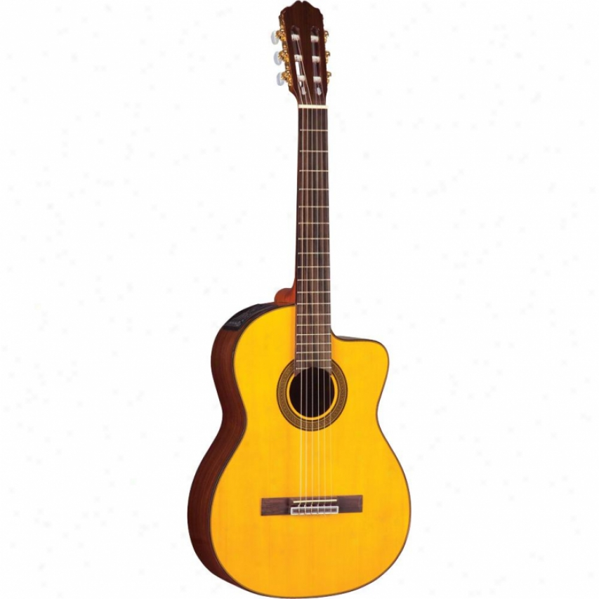 Takamine Classical Cutaway Acoustic-electric Guitar - Natural - Eg128sx
