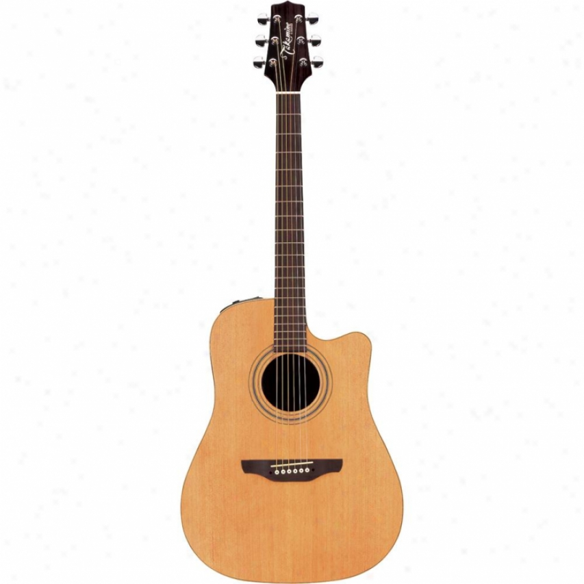 Takamine Dreadnaught Cutaway 6-string Acoustic-electric Guitar - Satin Natural