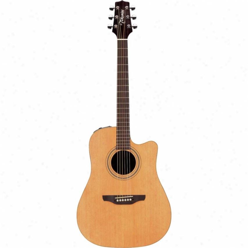 Takamine Open Box Dreadnaught Cutaway 6-stringg Acous5ic-electric Guitar - Satin