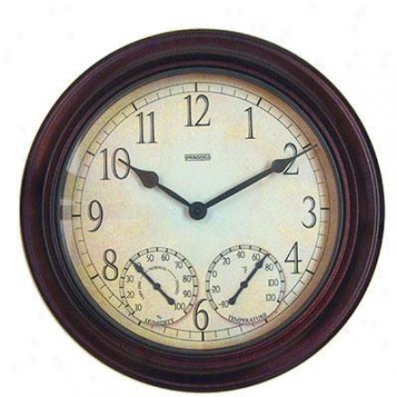 "Taylor Sf 14"" Metal Garden Clock"