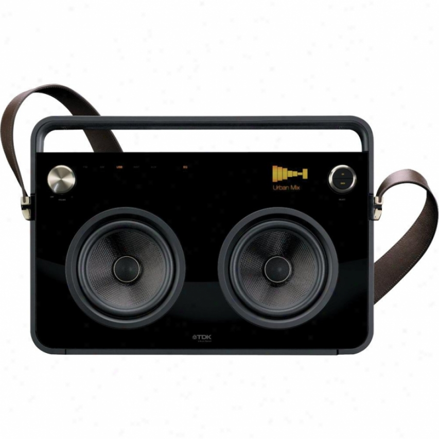 Tdk 2 Speaker Boombox Audio System - Black - 77000015402