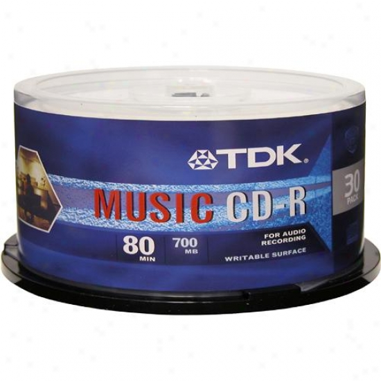 Tdk Cdr80 30 Pack Recordable Cd-r Discs