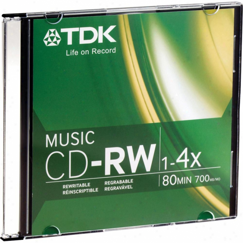 Tdk Cdrw80 Music Cd Recordable Disc