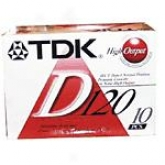 Tdk D120 Dynamic Audio Cassette Tapes (10 Pack)