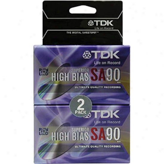 Tdk Sa90 High Bias Tape - 2 Pack