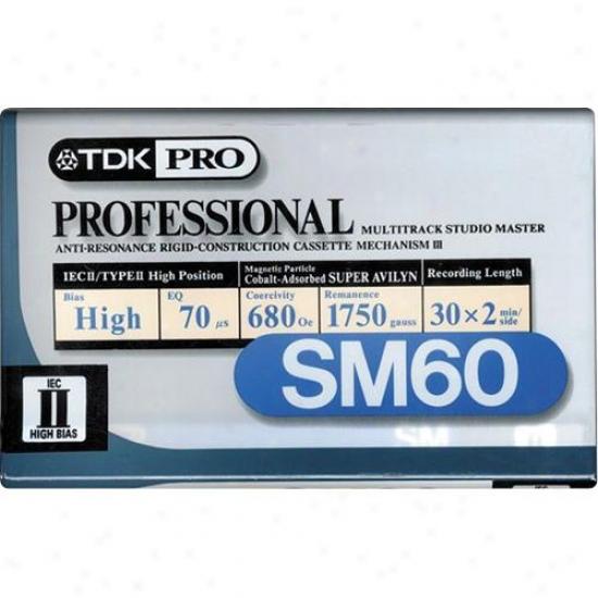 Tdk Sm60 60 Minute Pro Premium Profoundly Bias Audio Tape