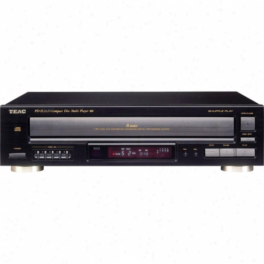 Teac Pd-d2610 5 Cd Player/change With Remote - Refurbished