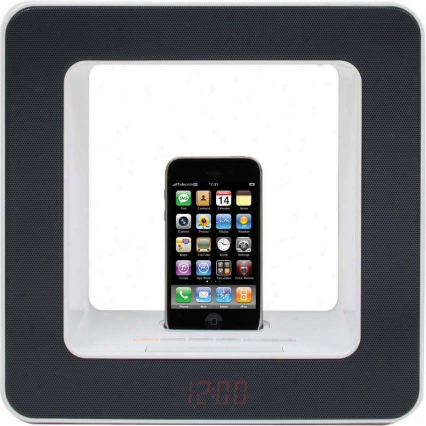 Teac Sr-luxi Fm Table-top Audio Lamp With Ipod / Iphone Dock - Black