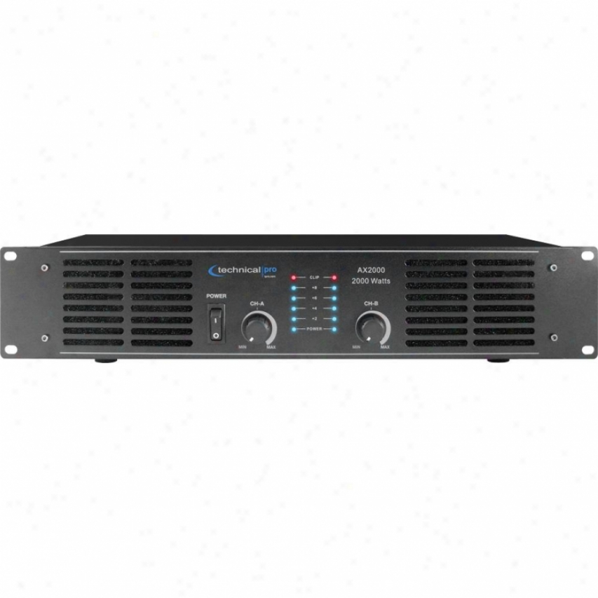 Technical Pro 2000 Watt Peak Power Amplifier Ax2000
