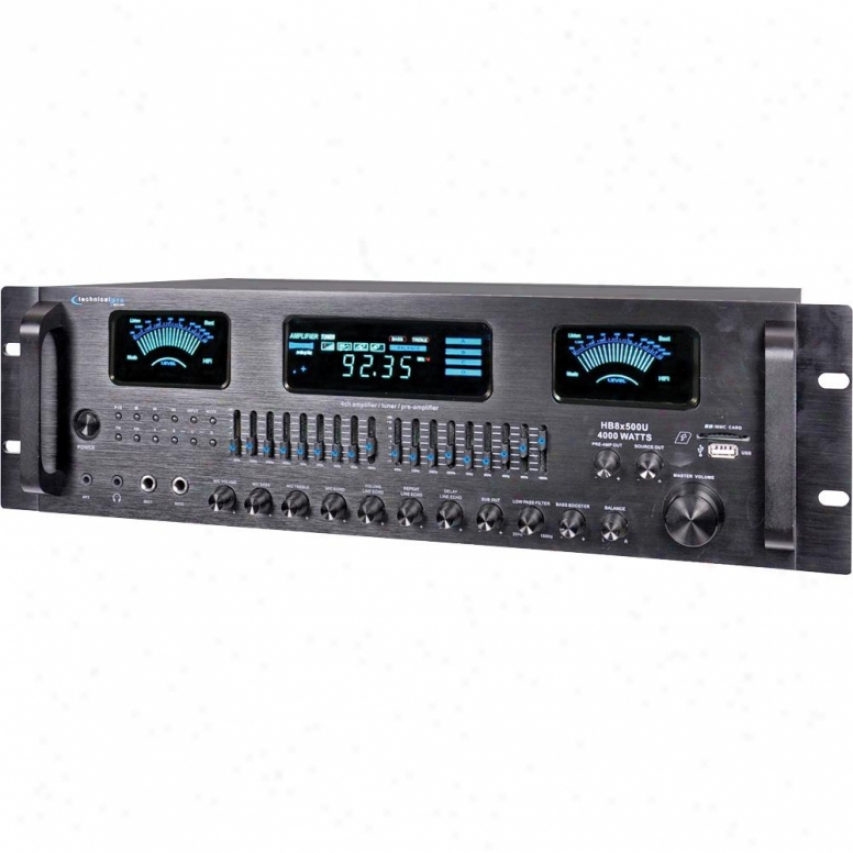 Technicl Pro 4-channel Hybrid Amplifier/pre-amplifier & Am/fm Tuner - Black