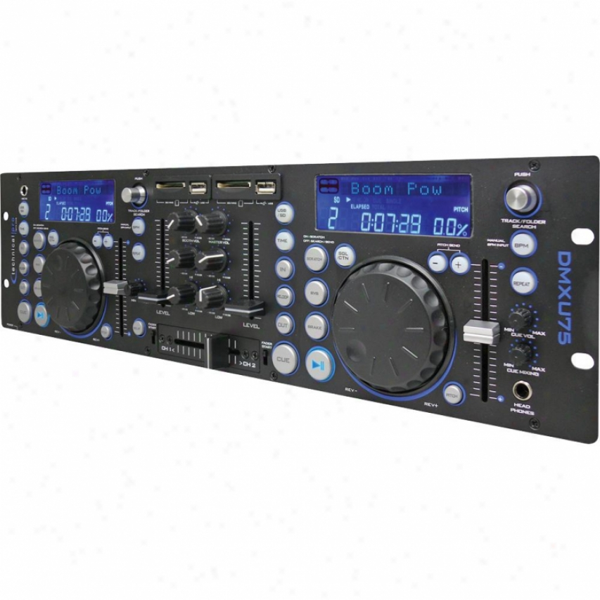 Technical Pro Dmxu75 Professional Doble Usb/sd Player & Mixer