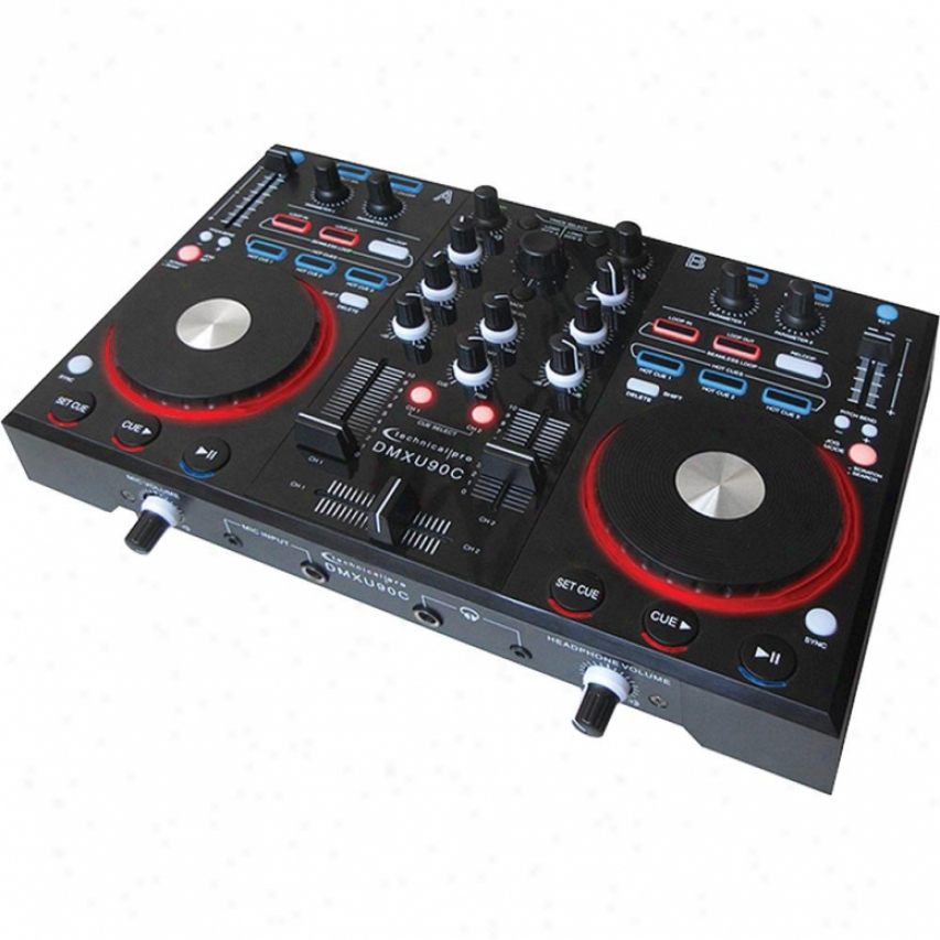 Technicak Pro Dmxu90c Dj Mixer With Controller Card