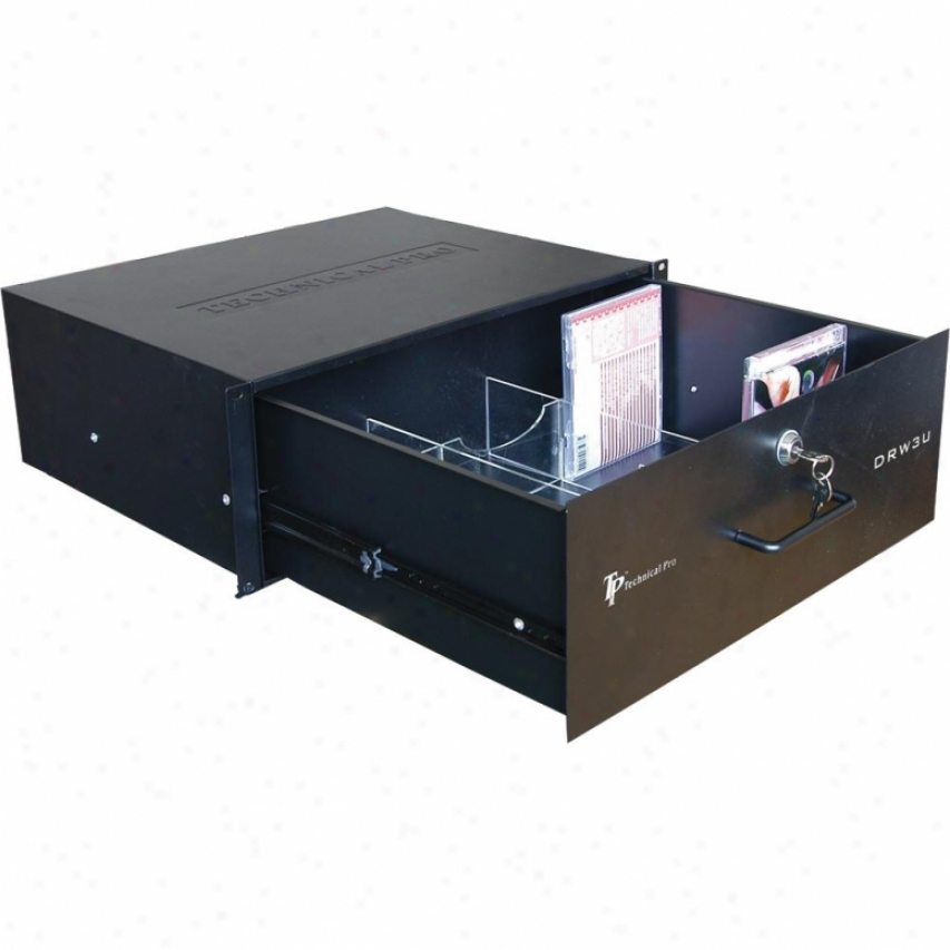 Technical Pro Drw-3u 3u Rack-mountable Drawer