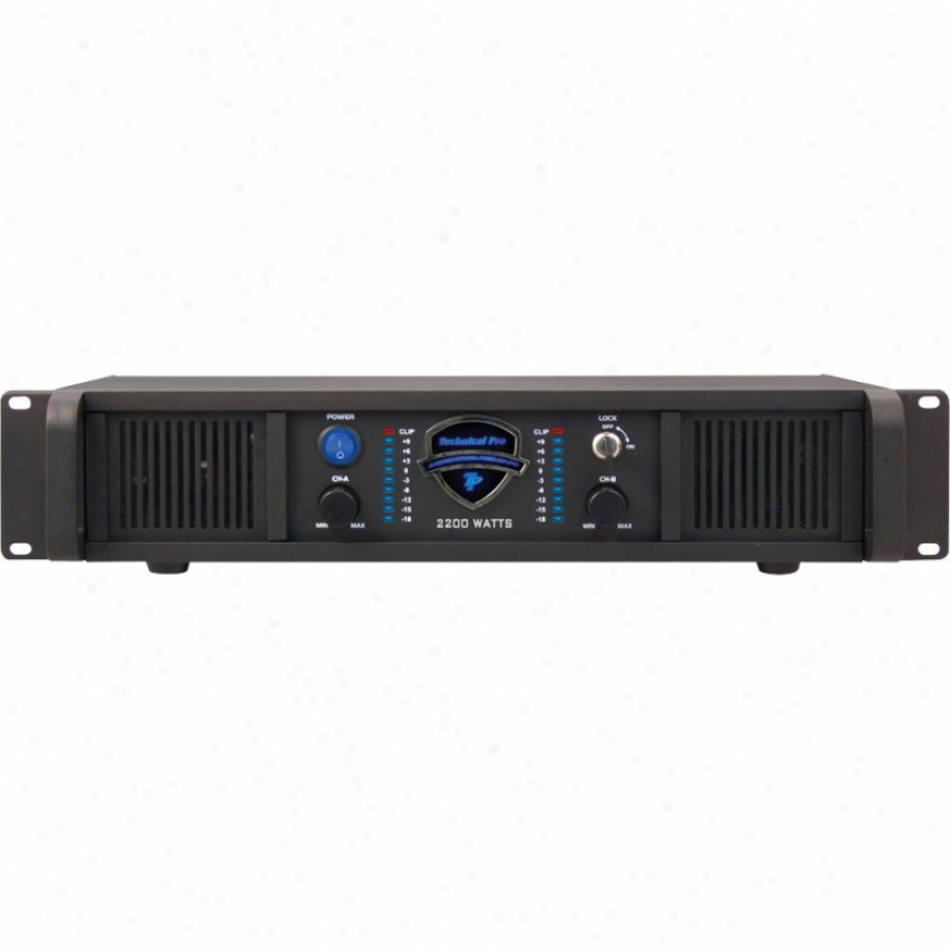 Technical Pro Lz-2200 Professional Stereo Power Amplifier - 2u Rack Embellish