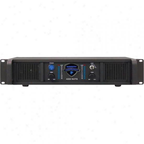 Technical Pro Lz-4200 Professional Stereo Power Amplifier - 2u Rack Mount