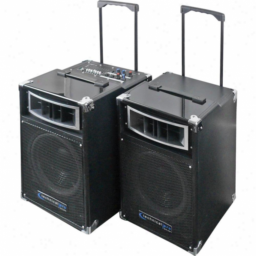 Technical Pro Portable Audio System Blaco Uparty10