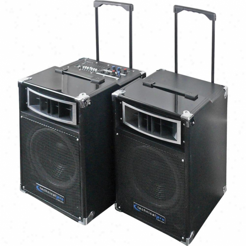 Technical Pro Portable Audio System Black Uparty8