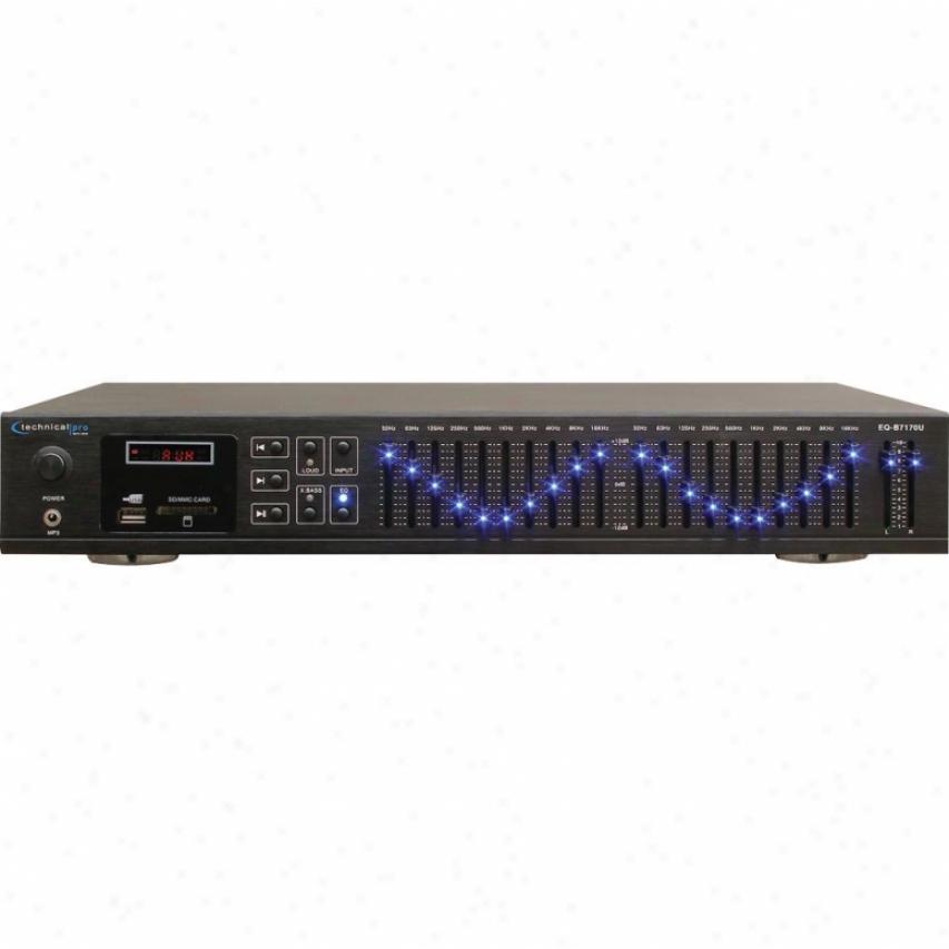 Technical Pro Professional Dual 10 Band Equalizer - Eq-b7170u