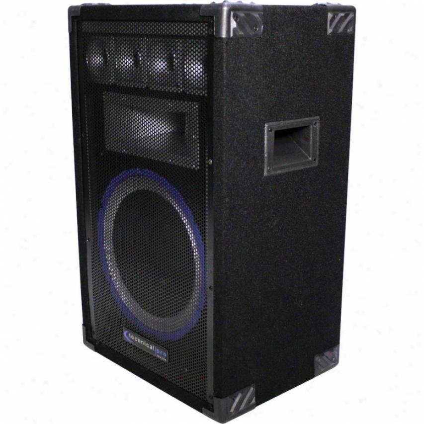 Technical Pro Vrtx12 12-inch Fivee-way Carpeted Cabinet Speaker W/ Steel Grill