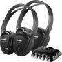 Power Acoustik 2 Swivel Ear Pad Single Ch Ir Wireless Headphones W/ Transmitter