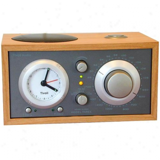 Tivoli Audio M3tpe Model 3 Clock Radio ( Cherry / Metallic Taupe )