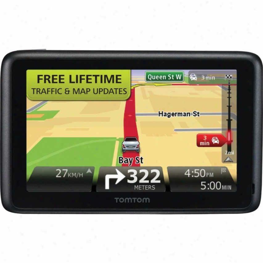 "Tomfom Go 2535 Tm 5"" Gps Navigator With Lifetime Traffic & Map Updates"
