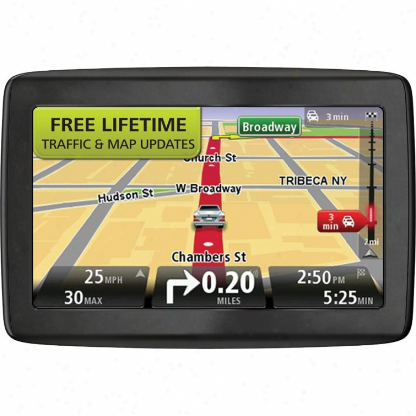 "Tomtom Via 1505 5"" Gps Navigation System With Lifetime Traffic & Delineate Updates"