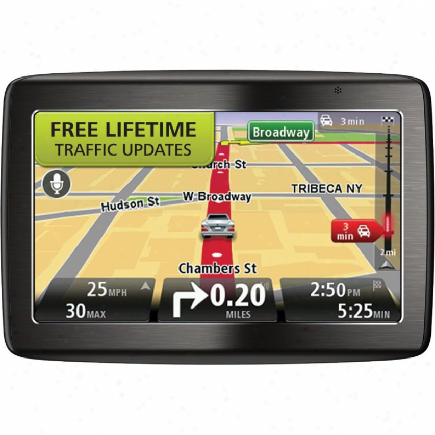 "Tomtom Via 1535 5"" Gps Navigation System With Lifetime Traffic Updates"