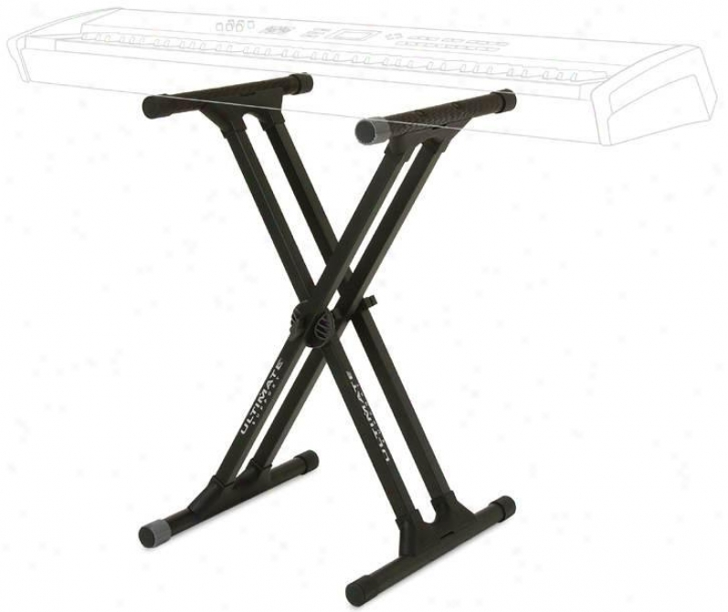 Ultimzte K3yboard X-stand, Black Heavy Dhty Double Brac3 Stand
