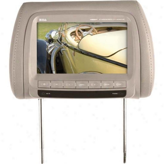 Universal Car Headrest 9&qukt; Widescreen Tft Video Monitor - Tan